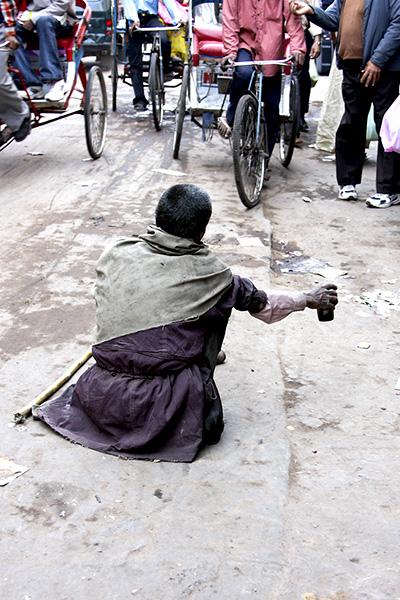 Beggar, New Delhi, India, Barbara Raisbeck Photography