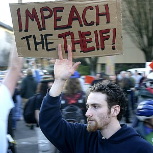 impeach the thief edit - Protests